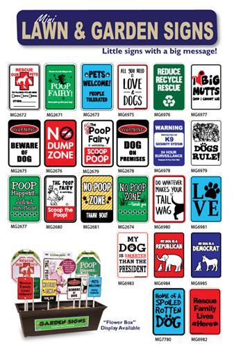 "Dog on Premises Mini Garden Sign, 3.75"" x 5.5"" on 8"" stake"