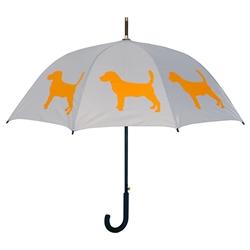 Beagle Umbrella Orange on Silver