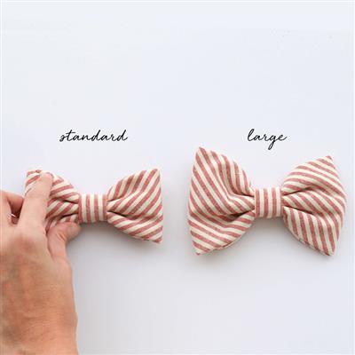 Peach Dog Bow Tie