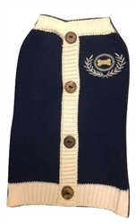 Navy Cardigan Sweater