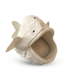 WHITE FISH SHAPE MICRO FLEES PET BED