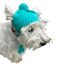 Scottish Cable Knit Hat- Turquoise