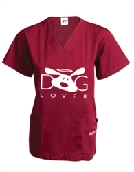 Dog Lover Scrub Top
