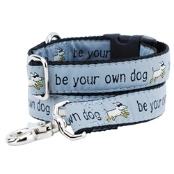 Be Your Own Dog - Gray - Collars & Leads a Teddy The Dog & 2 Hounds Design Collaboration