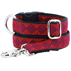 Leaf Tile Red Essential Collars and Leads