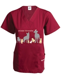 Welcome Diversity Scrub Top