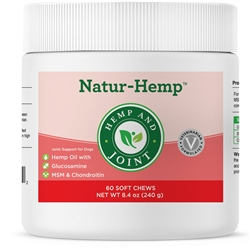 Natur-Hemp Hemp & Joint (60 Soft Chews) for Dogs