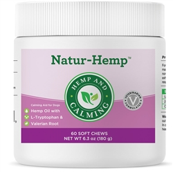 Natur-Hemp Hemp & Calming (60 Soft Chews) for Dogs