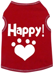 Happy Heart Paw - Tank - Red