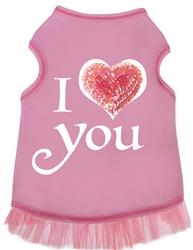 I Heart Love You - Tank - Pink