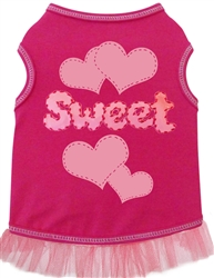 Sweet Hearts - Tank Dress - Hot Pink