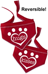 Hugs and Kisses - Reversible Scarf - Red