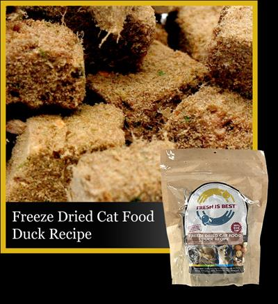 Freeze Dried Duck Cat Food, 8 oz.