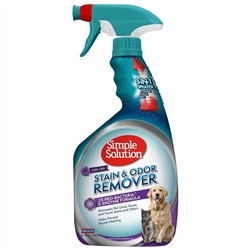 Simple Solution Pet Stain and Odor Remover - Enzymatic Cleaner with 2X Pro-Bacteria Cleaning Power  - Floral Fresh Scent