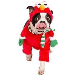 Pet Krewe Sesame Street Santa Elmo Walking Pet Costume