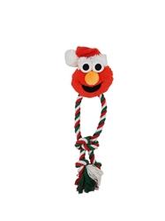 Pet Krewe Holiday Santa Elmo Rope Dog Chew Toy