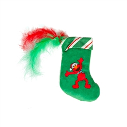 Pet Krewe Santa Elmo Stocking Catnip Toy