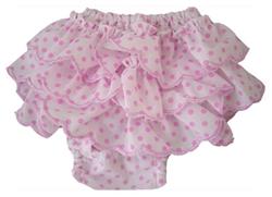 Polka Dot Frill Pants