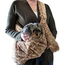 Adjustable Furbaby Sling bag, Fawn