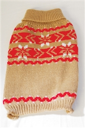 SNOWMASS SWEATER RED/BEIGE / SIZE X-SMALL