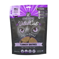 Vital Cat Freeze Dried Mini Patty Turkey  8 oz.