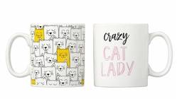 'Crazy Cat Lady' Mug Set