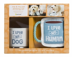 Owner/Pet Gift Set - I Love My Dog/I Love My Human