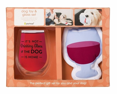 Owner/Pet Gift Set - It's not Drinking Alone if the Dog is Home