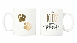 'My Kids Have Paws' Mug Set