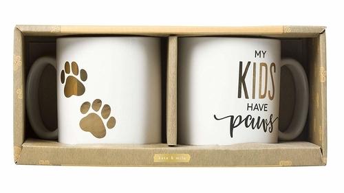 'My Kids Have Paws' Mug Set