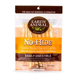 Earth Animal No-Hide Cage-Free Chicken Stix Dog & Cat Chews, 10 Pack