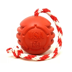 USA-K9 Stars and Stripes Ultra-Durable Reward Toy - Large - Red