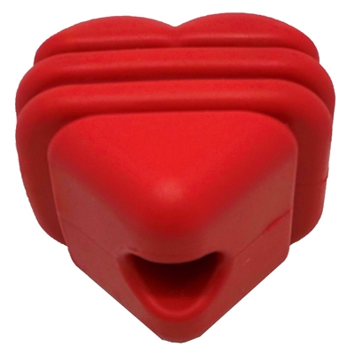 MuttsKickButt by SodaPup - Natural Rubber Heart on a String Reward Ball - Chew & Dental Toy - Aggressive Chewers - Red