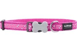 Flying Bones Hot Pink - Dog Collars & Leads