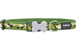 Camouflage Green - Dog Collar and Lead