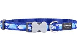 Camouflage Dark Blue - Dog Collar and Lead