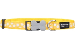 White Spots on Yellow - Dog Collar and Lead