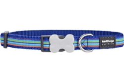 Horizontal Stripes Navy - Dog Collar and Lead