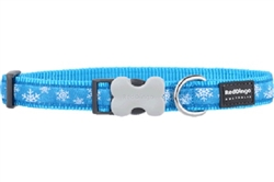 Snowflake Turquoise - Dog Collar and Lead