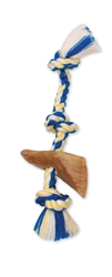 "Mammoth Flossy Chews with Beef Chews 13"" Color Tug Rope with Cow Hoof"