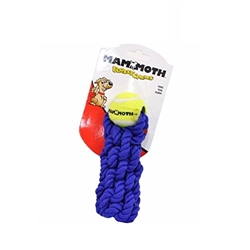 Mammoth Flossy Chews Braided Stick Rope Toy with Tennis Ball, Assorted Colors
