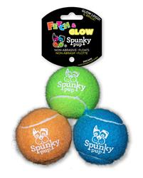 Tennis Balls with Glow Logo 3-pack