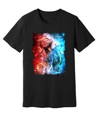 Viper - Tracking Dogs - Red & Blue - Black Shirt - Design 40