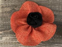 Poppy Dog Collar Flower