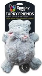 Hippo with Ball Squeaker Furry Friends Toy