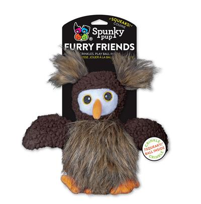Owl with Ball Squeaker Furry Friends Toy