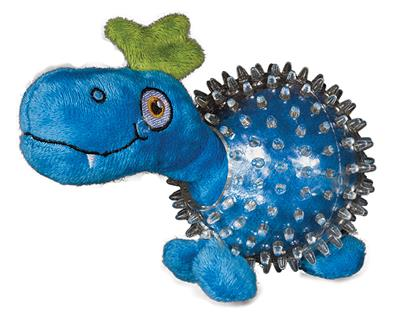 Dino in Clear Spiky Ball - Lil' Squeakers Toy