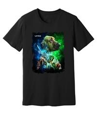 Viper - Tracking Dogs - Blue & Green - Black Shirt - Design 41