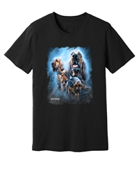 Viper - Search and Rescue - Bloodhounds - Black Shirt - Design 43