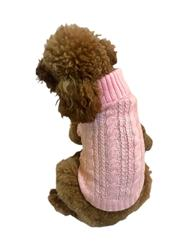 Scottish Cable Knit Sweater, Pink